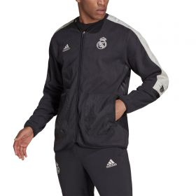 Real Madrid Travel Mid Layer Top-Grey