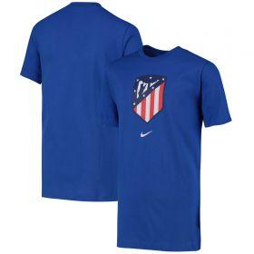 Atlético de Madrid Crest T-Shirt - Blue - Kids