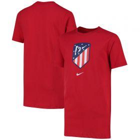 Atlético de Madrid Crest T-Shirt - Red - Kids