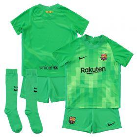 Barcelona Goalkeeper Stadium Kit 2021-22 - Little Kids