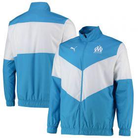 Olympique de Marseille Pre Match Jacket-Sky Blue