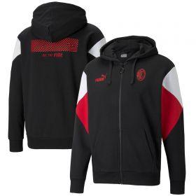 AC Milan FtblCulture Full Zip Hoody-Black