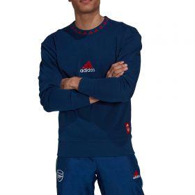 Arsenal Icons Crew Sweater-Blue