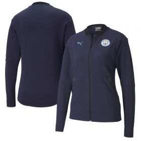 Manchester City Casuals Jacket - Navy - Womens