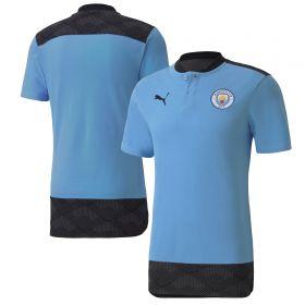Manchester City Casuals Polo - Sky Blue