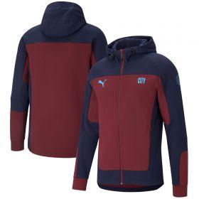 Manchester City Evostripe Hooded Jacket - Burgundy