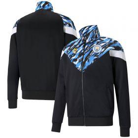 Manchester City Iconic MCS Graphic Jacket - Black