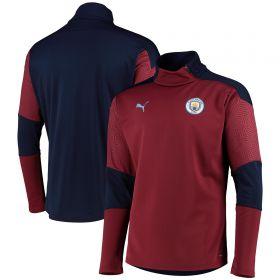 Manchester City Training Fleece - Burgundy
