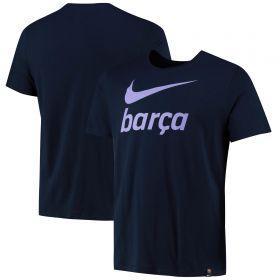 Barcelona Swoosh T-Shirt - Dark Navy