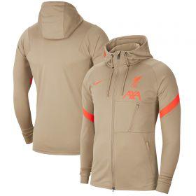 Liverpool Hooded Strike Track Jacket - Khaki
