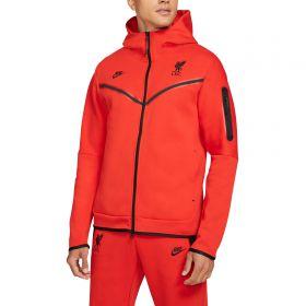Liverpool Zip Thru Hoodie - Red