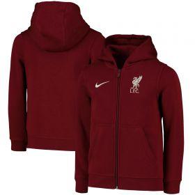 Liverpool Zip Thru Hoodie - Red - Kids
