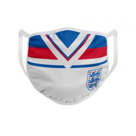 England Single Pack Retro Face Covering - Blue/White/Red - Adult