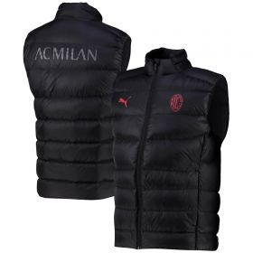 AC Milan Casuals Down Vest-Black