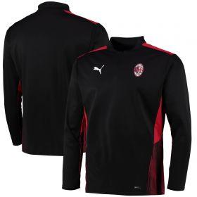 AC Milan Training 1/4 Zip Top-Black