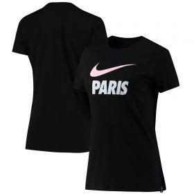 Paris Saint-Germain Swoosh Club T-Shirt - Black - Womens