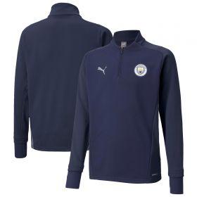 Manchester City Training Fleece-Navy-Kids