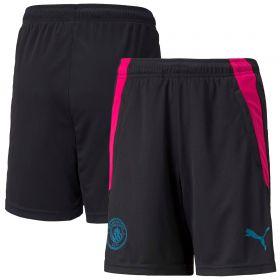 Manchester City Training Shorts-Black-Kids