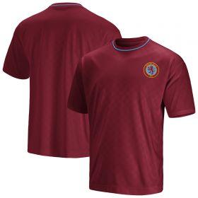 Aston Villa 90s Retro T-Shirt - Claret - Mens