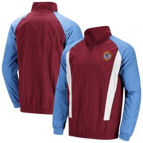 Aston Villa 90s Retro Woven Track Jacket - Claret - Mens