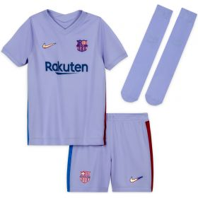 Barcelona Away Stadium Kit 2021-22 - Little Kids