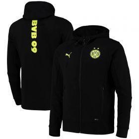 Borussia Dortmund Casuals Hooded Jacket-Black