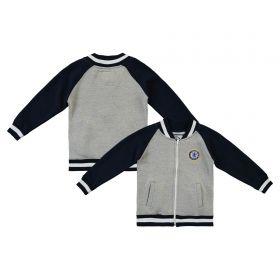 Chelsea Fleece Bomber Jacket - Grey Marl/Navy - Infant Boys