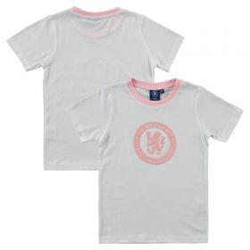 Chelsea Mono Crest T-Shirt - White - Infant Girls