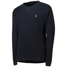Everton Terrace Waffle Knit Jumper - Navy - Mens