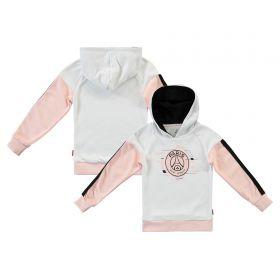 Paris Saint-Germain Core Wordmark Graphic Hoodie - Pink/White - Girls