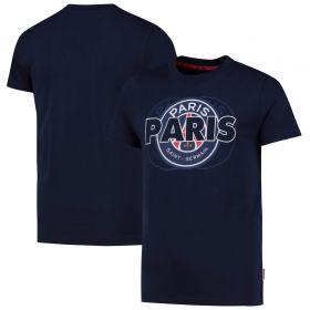 Paris Saint-Germain Core Wordmark Graphic T-Shirt - Blue - Kids