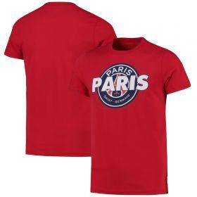 Paris Saint-Germain Core Wordmark Graphic T-Shirt - Red - Kids