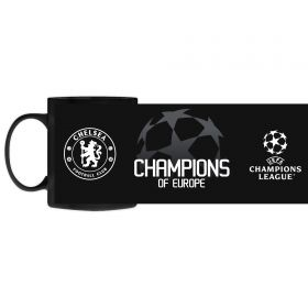 Chelsea UCL 2021 Champions Mug - Black