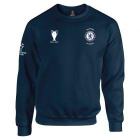 Chelsea UEFA UCL 2021 Champions Sweatshirt - Navy - Adults
