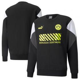 Borussia Dortmund FtblCulture Crew Sweater-Black
