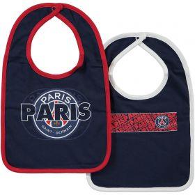 Paris Saint-Germain Core Crest 2 Pack Bibs - Blue - Baby Boy