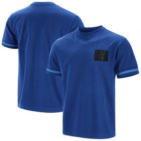 Everton Short Sleeve Ringer T-Shirt - Blue - Mens