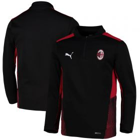AC Milan Training 1/4 Zip Top-Black-Kids