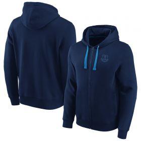 Everton Essentials Small Crest Full Zip Hoodie - Navy - Mens