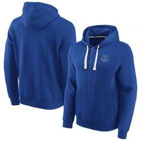 Everton Essentials Small Crest Full Zip Hoodie - Royal - Mens