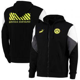 Borussia Dortmund FtblCulture FZ Hoodie-Black