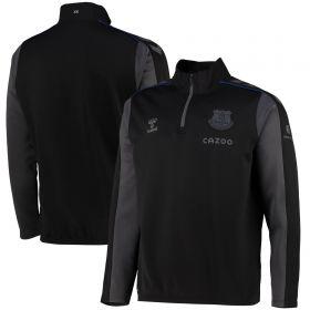 Everton Training Half Zip Sweat - Jet Black