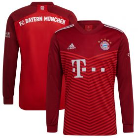 FC Bayern Home Shirt 2021-22-Long Sleeve-Kids