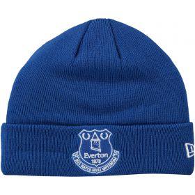 Everton New Era Core Crest Cuff Knit Beanie - Royal - Junior