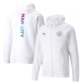 Manchester City Casuals Hooded Jacket-White