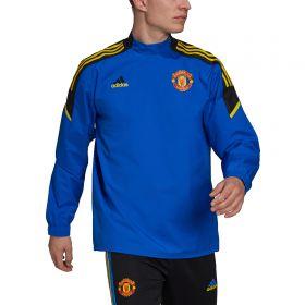 Manchester United European Training Hybrid Top-Blue