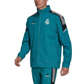 Real Madrid European Training All Weather Jacket-Green