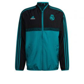 Real Madrid Icons Woven Jacket-Black