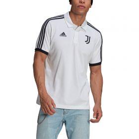 Juventus 3 Stripe Polo-White