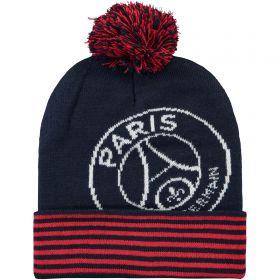 Paris Saint-Germain Core Oversized Crest Pom Beanie - Blue/Red - Men's